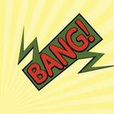 Κινούμενα σχέδια bang2-12 Στοκ εικόνα με δικαίωμα ελεύθερης χρήσης