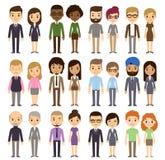 Κινούμενα σχέδια Businesspeople ελεύθερη απεικόνιση δικαιώματος