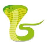 Κινούμενα σχέδια Cobra που απομονώνεται στο κενό υπόβαθρο Στοκ Φωτογραφίες