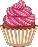 κινούμενα σχέδια cupcake διανυσματική απεικόνιση