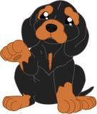 Κινούμενα σχέδια dachshund Στοκ φωτογραφία με δικαίωμα ελεύθερης χρήσης
