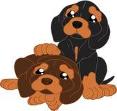 Κινούμενα σχέδια dachshunds Στοκ φωτογραφία με δικαίωμα ελεύθερης χρήσης