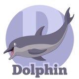 Κινούμενα σχέδια Dolphin2 ABC Στοκ Φωτογραφία