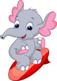 Κινούμενα σχέδια Elephan Στοκ φωτογραφίες με δικαίωμα ελεύθερης χρήσης