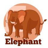 Κινούμενα σχέδια Elephant2 ABC Στοκ Φωτογραφία