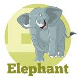 Κινούμενα σχέδια Elephant3 ABC Στοκ Φωτογραφία