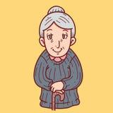 Κινούμενα σχέδια Grandma Στοκ Φωτογραφίες