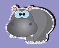 Κινούμενα σχέδια Hippo Διανυσματική απεικόνιση
