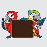 Κινούμενα σχέδια Macaw Στοκ Εικόνες