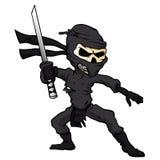 Κινούμενα σχέδια ninja κρανίων διανυσματική απεικόνιση