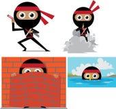 Κινούμενα σχέδια Ninja Στοκ εικόνες με δικαίωμα ελεύθερης χρήσης