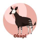 Κινούμενα σχέδια Okapi ABC Στοκ Εικόνα