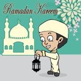 Κινούμενα σχέδια Ramadan Στοκ Εικόνες