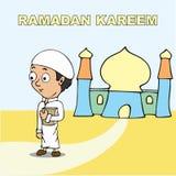 Κινούμενα σχέδια Ramadan kareem Στοκ φωτογραφία με δικαίωμα ελεύθερης χρήσης