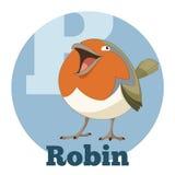 Κινούμενα σχέδια Robin ABC Στοκ φωτογραφία με δικαίωμα ελεύθερης χρήσης