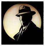 Κινούμενα σχέδια Sherlock Holmes ιδιωτικών αστυνομικών ελεύθερη απεικόνιση δικαιώματος
