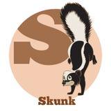 Κινούμενα σχέδια Skunk2 ABC ελεύθερη απεικόνιση δικαιώματος