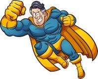 Κινούμενα σχέδια Superhero Στοκ Φωτογραφίες