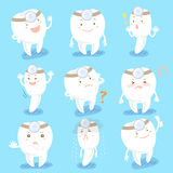 Κινούμενα σχέδια tooth doctor do expression Στοκ Εικόνα