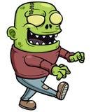 Κινούμενα σχέδια zombie ελεύθερη απεικόνιση δικαιώματος