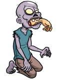 Κινούμενα σχέδια zombie διανυσματική απεικόνιση
