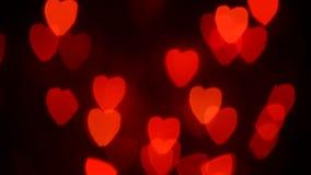 Κινούμενες καρδιές απόθεμα βίντεο