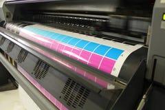 Κινούμενη επικεφαλής ψηφιακή κυανή ροδανιλίνη εκτύπωσης Στοκ εικόνα με δικαίωμα ελεύθερης χρήσης