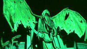 Κινούμενη νύχτα φτερών δαιμόνων απόθεμα βίντεο