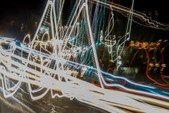 Κινούμενη περίληψη φω'των αυτοκινήτων στοκ φωτογραφία με δικαίωμα ελεύθερης χρήσης