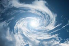 κινούμενος στρόβιλος σύννεφων Στοκ Φωτογραφίες