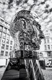 Κινούμενο άγαλμα του Franz Kafka στην Πράγα, άχρωμο Στοκ φωτογραφίες με δικαίωμα ελεύθερης χρήσης