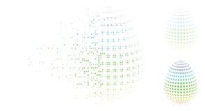 Κινούμενο εικονίδιο αυγών λουλουδιών εικονοκυττάρου ημίτονο αφηρημένο Απεικόνιση αποθεμάτων
