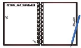 Κινούμενο σημειωματάριο πινάκων ελέγχου ημέρας Στοκ Εικόνες