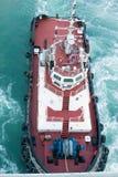 Κινούμενο σκάφος βαρκών ρυμουλκών Στοκ φωτογραφία με δικαίωμα ελεύθερης χρήσης