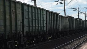 Κινούμενο τραίνο φορτίου απόθεμα βίντεο