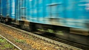 κινούμενο τραίνο φορτίου Στοκ φωτογραφίες με δικαίωμα ελεύθερης χρήσης