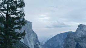 Κινούμενο χρόνος-σφάλμα κοιλάδων Yosemite απόθεμα βίντεο