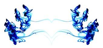 κινούμενο ύδωρ μπλε μελανιού Στοκ φωτογραφία με δικαίωμα ελεύθερης χρήσης