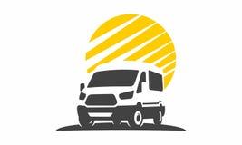 Κινούμενο car van logo έμβλημα Στοκ Εικόνες