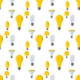 Κινούμενων σχεδίων λαμπτήρων παλαιά λαμπών φωτός άνευ ραφής σχεδίων υποβάθρου σχεδίου διανυσματική ενέργεια λύσης καταιγισμού ιδε Στοκ φωτογραφίες με δικαίωμα ελεύθερης χρήσης