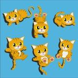 Κινούμενων σχεδίων χαριτωμένο διάνυσμα σχεδίου κινούμενων σχεδίων γατών διανυσματικό ελεύθερη απεικόνιση δικαιώματος