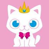 Κινούμενων σχεδίων γάτα που ντύνεται λατρευτή όπως μια πριγκήπισσα Στοκ Φωτογραφίες