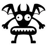 Κινούμενων σχεδίων χαρακτήρας εικονιδίων δαιμόνων που απομονώνεται αστείος Στοκ φωτογραφία με δικαίωμα ελεύθερης χρήσης