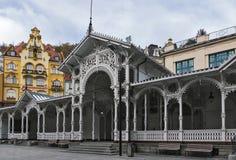 Κιονοστοιχία αγοράς, Κάρλοβυ Βάρυ  Τσεχία Στοκ φωτογραφία με δικαίωμα ελεύθερης χρήσης