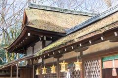 ΚΙΟΤΟ, ΙΑΠΩΝΙΑ - 12 Ιανουαρίου 2015: Η λάρνακα kawai-Jinja σε ένα Shimogamo-shimogamo-ji Στοκ εικόνα με δικαίωμα ελεύθερης χρήσης
