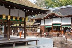 ΚΙΟΤΟ, ΙΑΠΩΝΙΑ - 12 Ιανουαρίου 2015: Η λάρνακα kawai-Jinja σε ένα Shimogamo-shimogamo-ji Στοκ Εικόνες