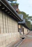 ΚΙΟΤΟ, ΙΑΠΩΝΙΑ - 11 Ιανουαρίου 2015: Κήπος του Κιότο Gyoen ένα διάσημο Histori Στοκ Εικόνες