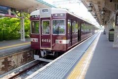 ΚΙΟΤΟ, ΙΑΠΩΝΙΑ - 16 Μαΐου ο σταθμός τρένου Arashiyama στις 16 Μαΐου 2014 σε Arashiyama, Κιότο, Ιαπωνία Arashiyama είναι καλά - γν Στοκ εικόνες με δικαίωμα ελεύθερης χρήσης