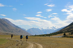Κιργιστάν - κεντρική περιοχή της Τιέν Σαν Στοκ Φωτογραφία