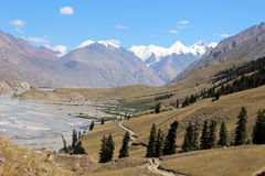 Κιργιστάν - κεντρική περιοχή της Τιέν Σαν Στοκ Εικόνα